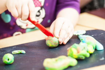 How to Teach Preschool Skills with Playdough