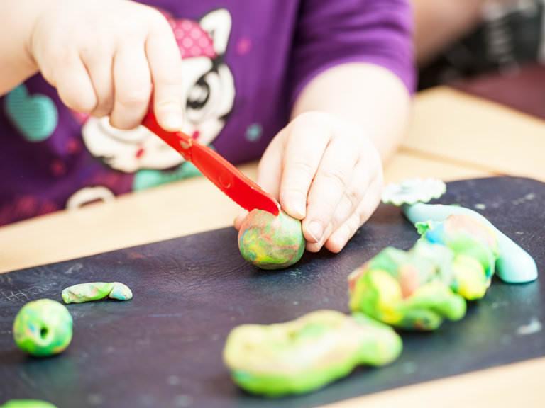 How to Teach Preschool Skills with Playdough