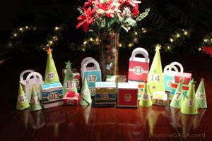 Christmas Advent Calendar Village by Honey and Lime