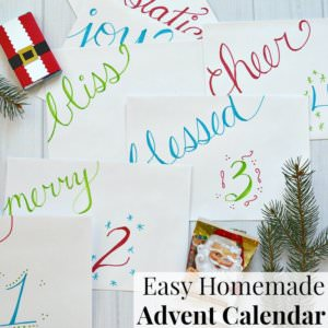 Easy Homemade Advent Calendar by Organized 31