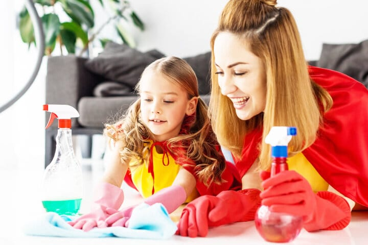 How To Keep Your House Clean – And Get the Kids to Help Too!